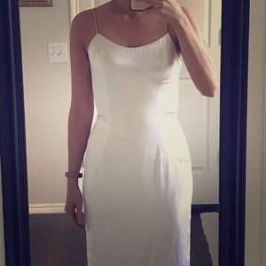 Vintage Jessica McClintock Gunne Sax Satin Dress
